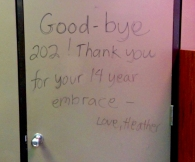 Our last day in Room 202